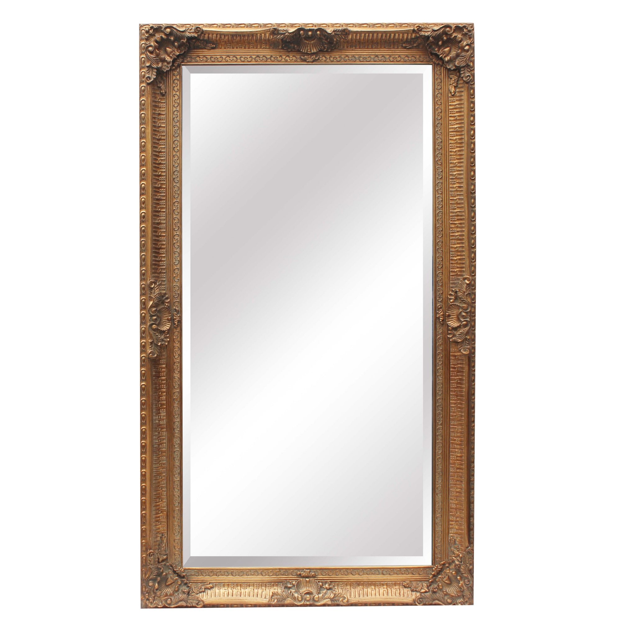 Francoise extra large ornate antiqued gold mirror la for Oversized mirror
