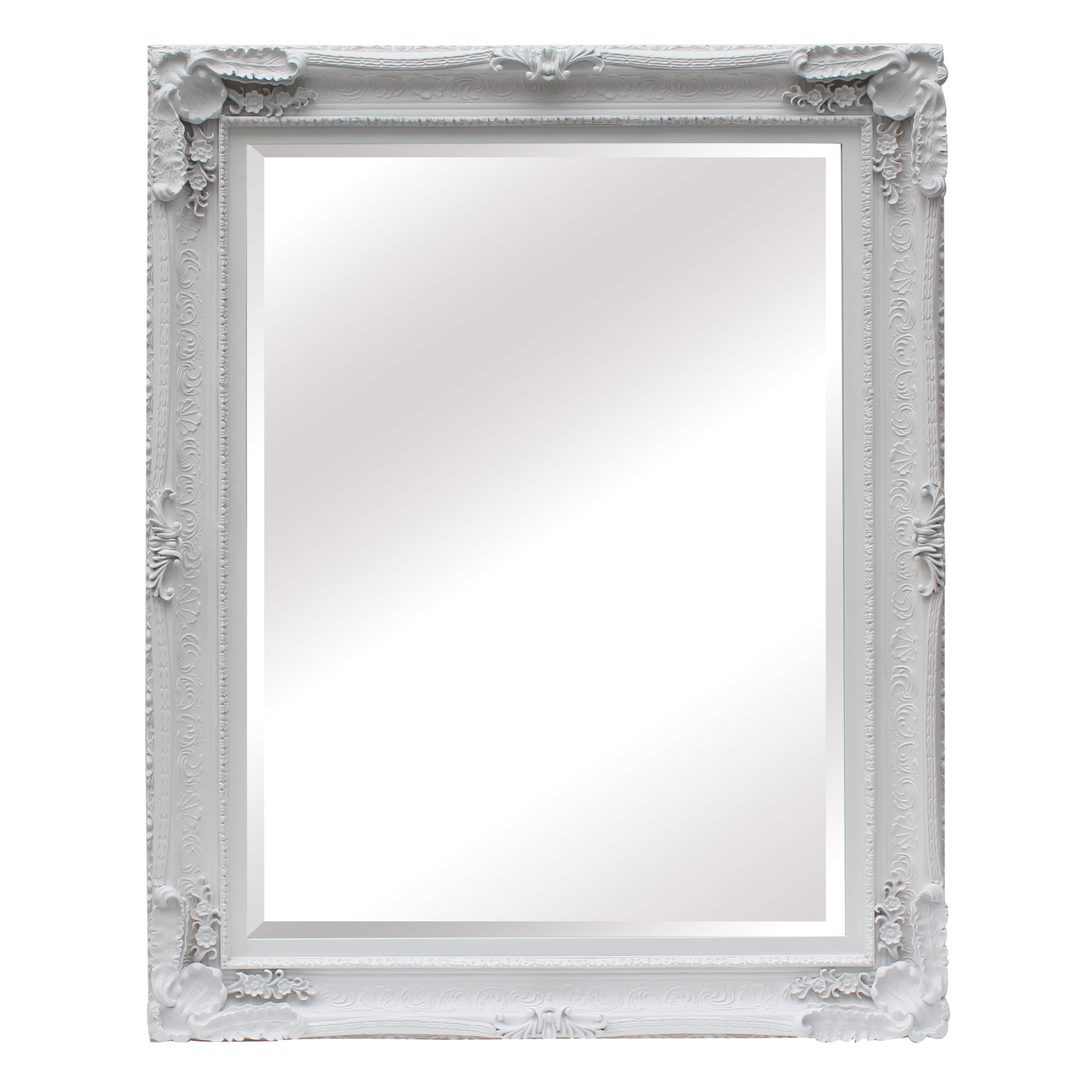 Maddelena large white mirror la maison chic for White mirror
