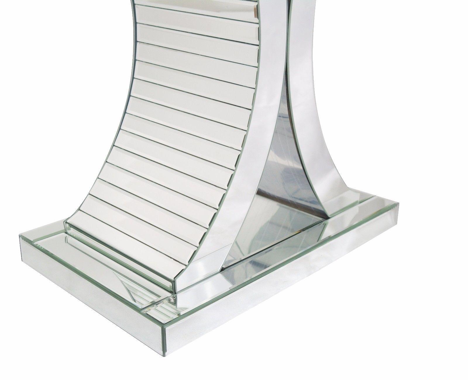 Venetian Mirror Glass Side Curve Console Table - La Maison Chic