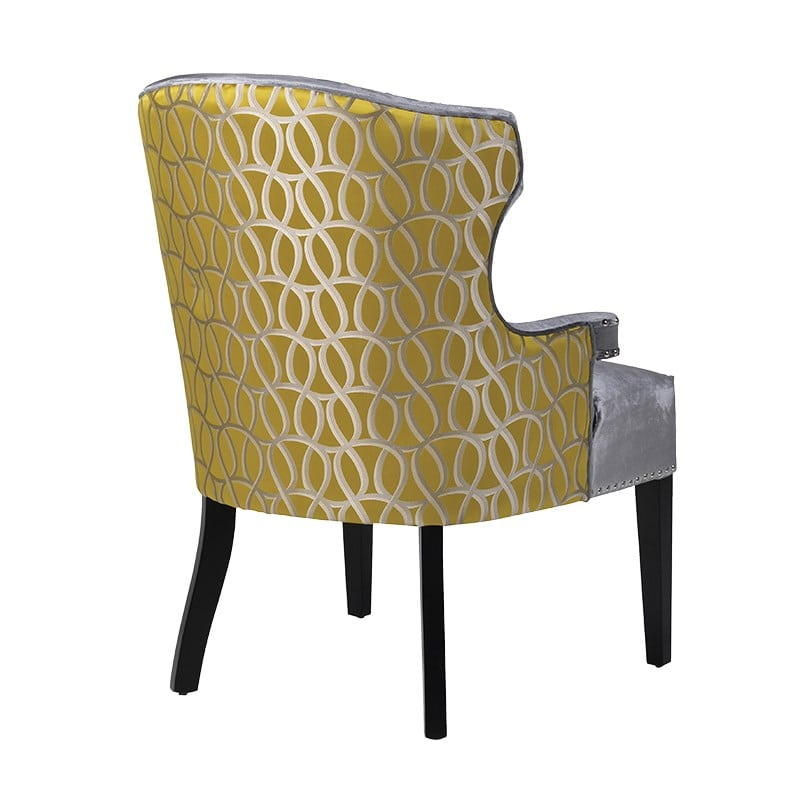 Paloma studded dining chair la maison chic for Studded dining room chairs