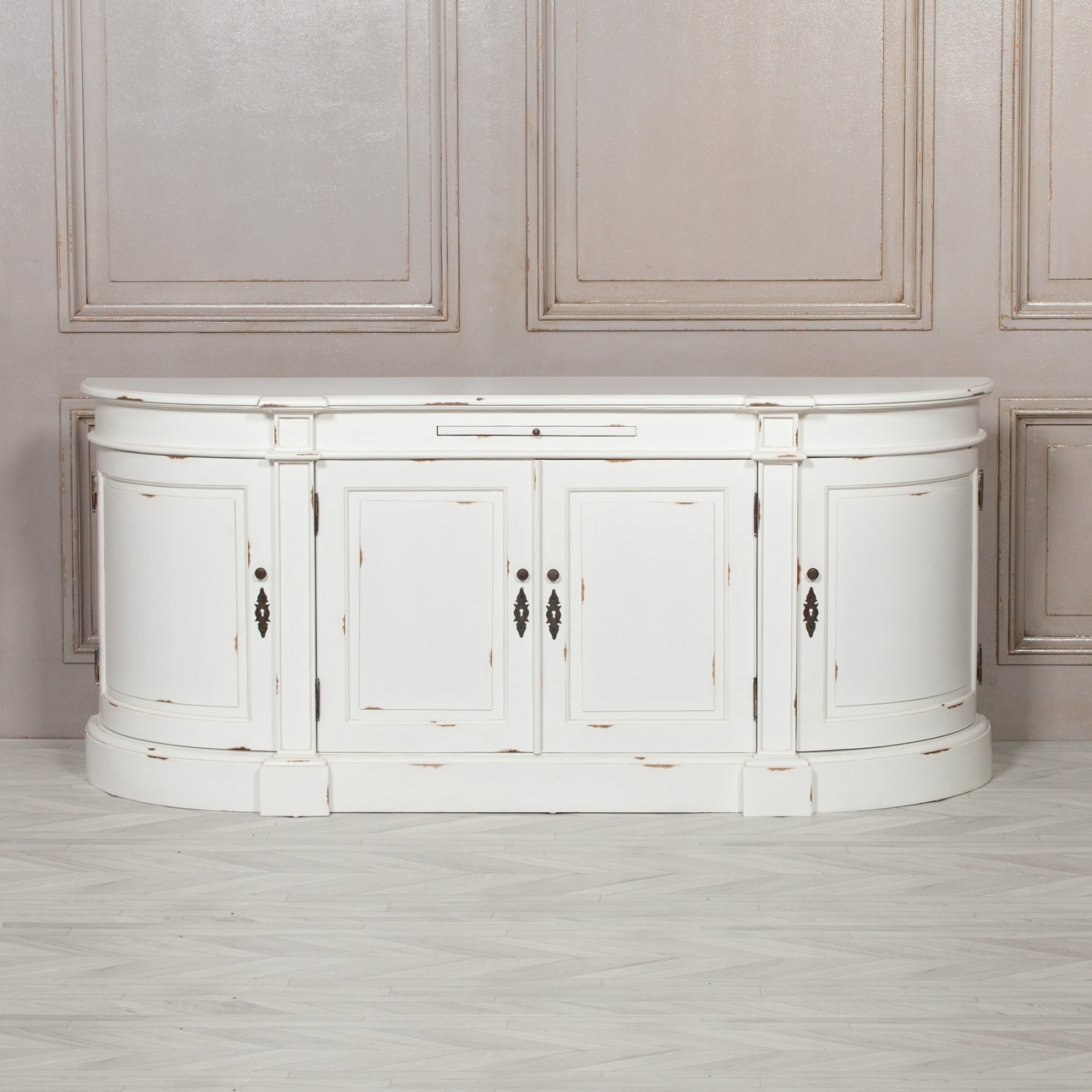 Aged French Distressed White Sideboard Furniture La Maison Chic Luxury Interiors
