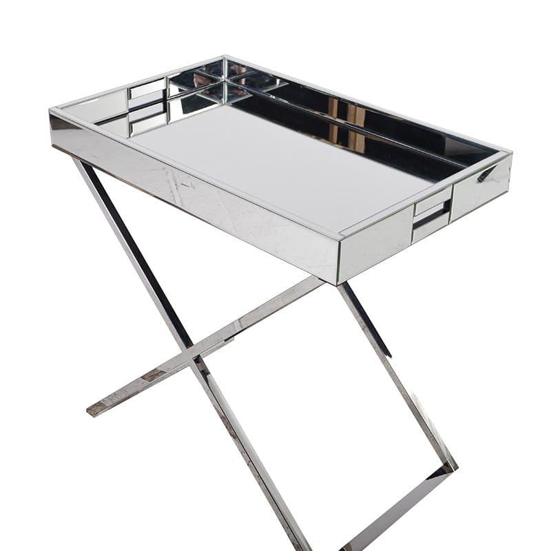 Mirrored Tray Table Furniture La Maison Chic Luxury