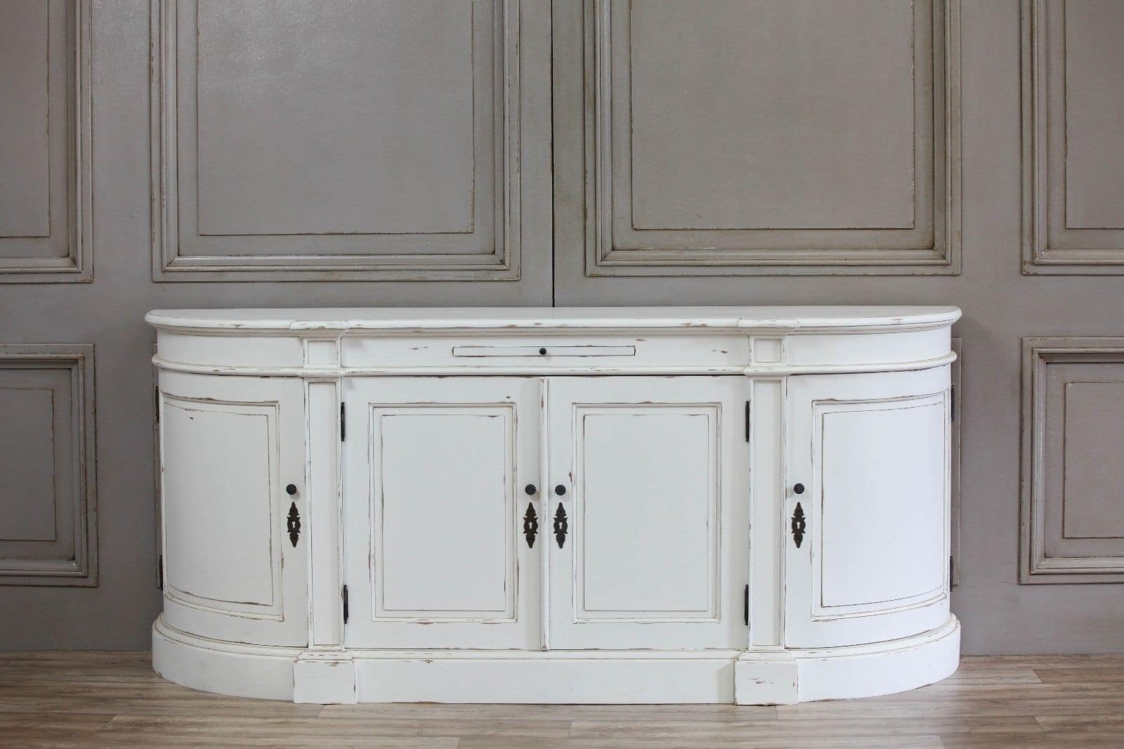 Aged French Distressed White Sideboard Furniture
