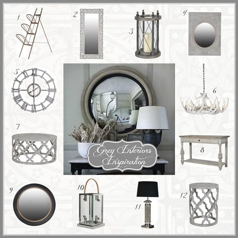 French Style Grey Interiors