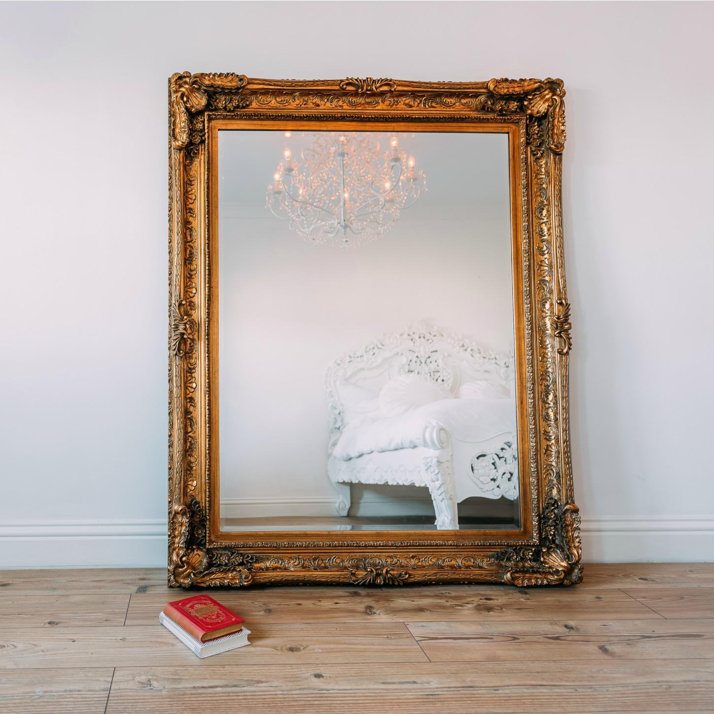 Maddelena Large Gold Mirror Furniture La Maison Chic