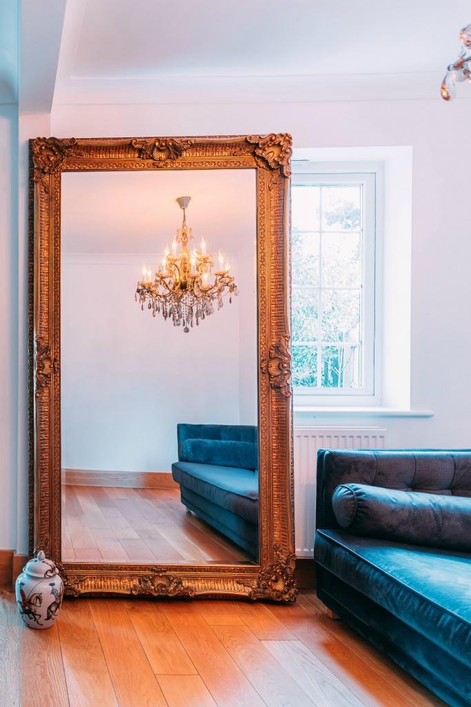 Francoise Extra Large Ornate Antiqued Gold Mirror