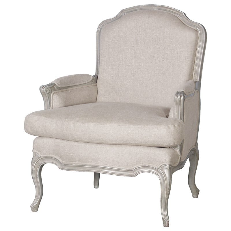 Linen French Style Armchair Furniture - La Maison Chic ...