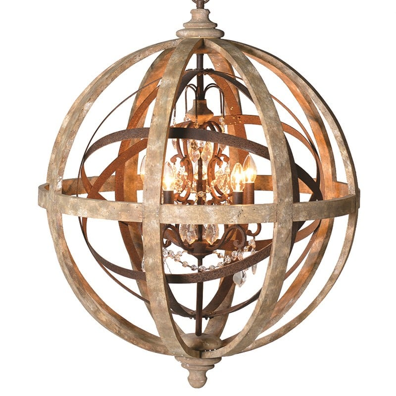 Metal Globe Crystal Chandelier Furniture La Maison Chic Luxury Interiors