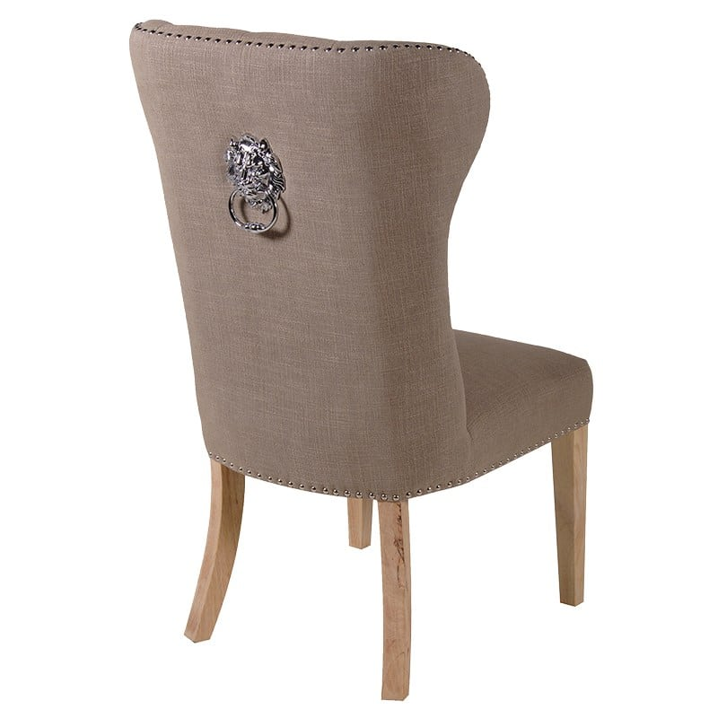 Lion Knocker Beige Dining Chair Furniture La Maison Chic
