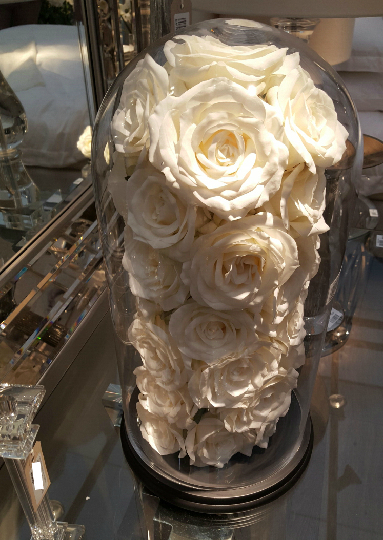 Ivory Roses In Dome Furniture La Maison Chic Luxury