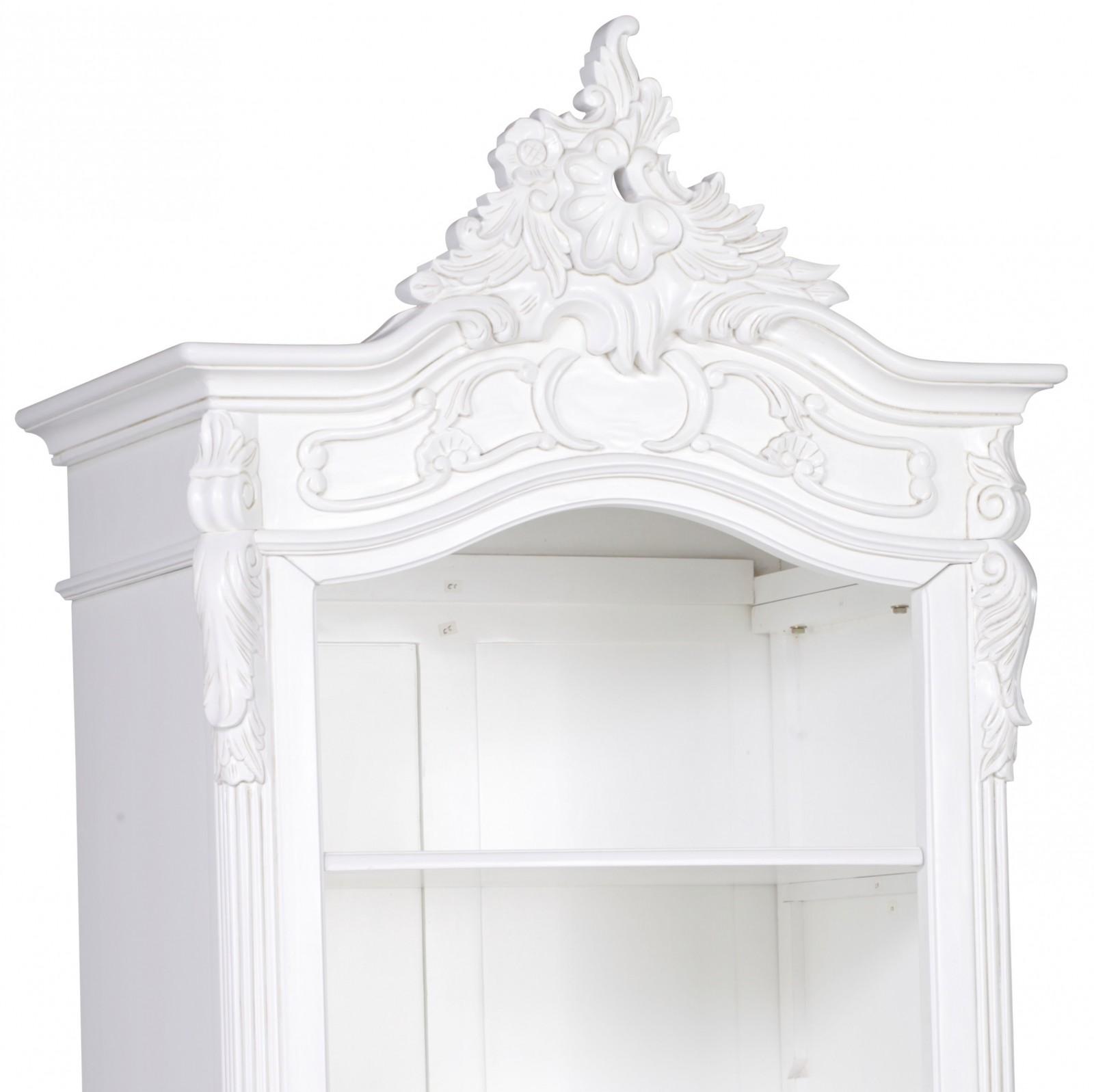 Annette French Style White Rococo Carved Open Bookcase Furniture La Maison Chic Luxury Interiors