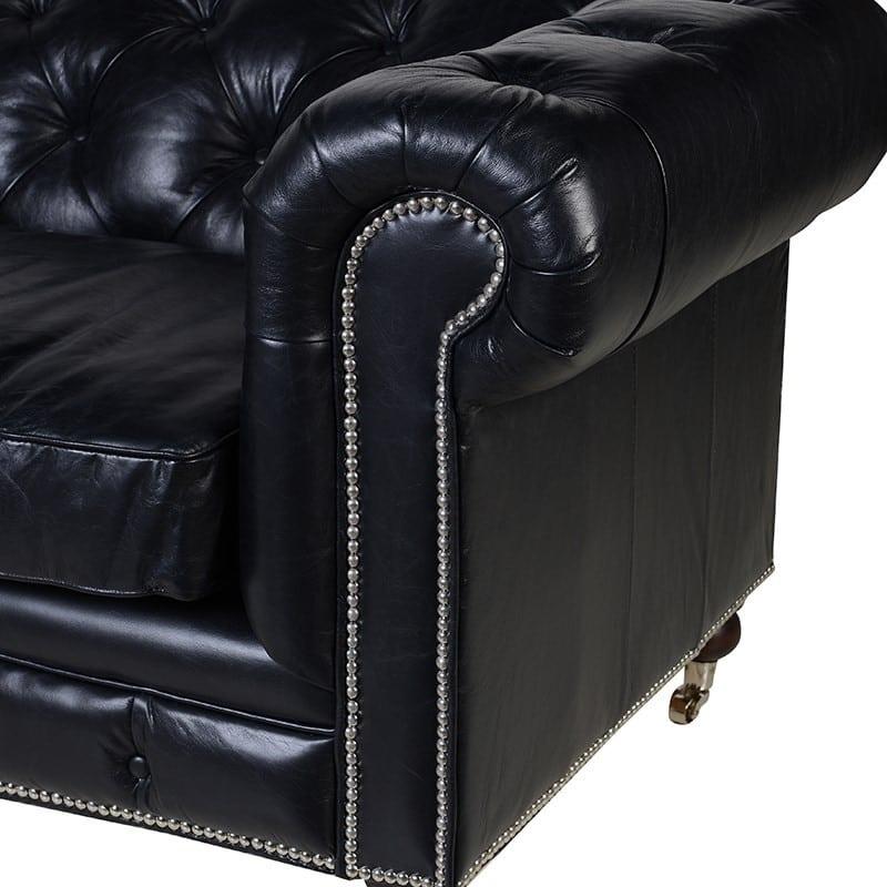 black leather chesterfield furniture la maison chic luxury interiors. Black Bedroom Furniture Sets. Home Design Ideas