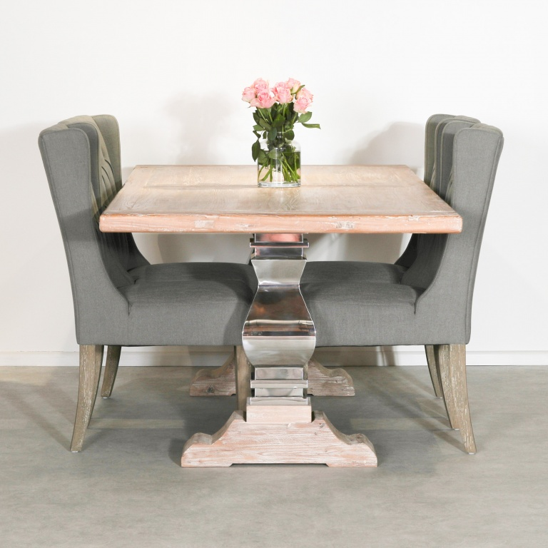 Extra Large Farmhouse Dining Table With Metal Legs Furniture La Maison Chic Luxury Interiors