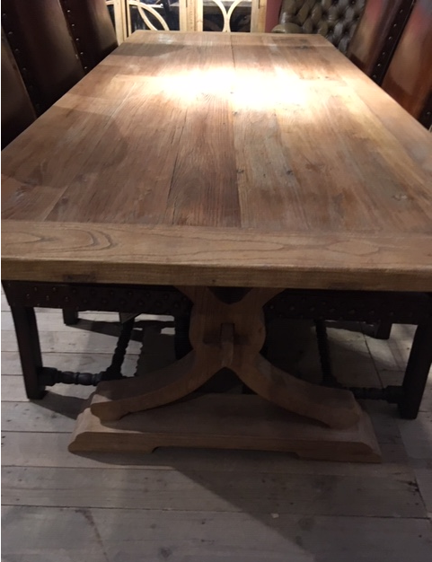 Recycled Elm Large Farmhouse Dining Table Furniture La Maison Chic Luxury Interiors