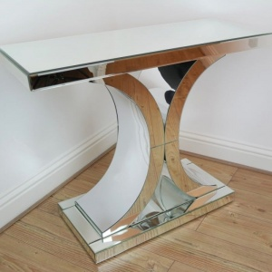 Venetian Mirror Deco X Console Table