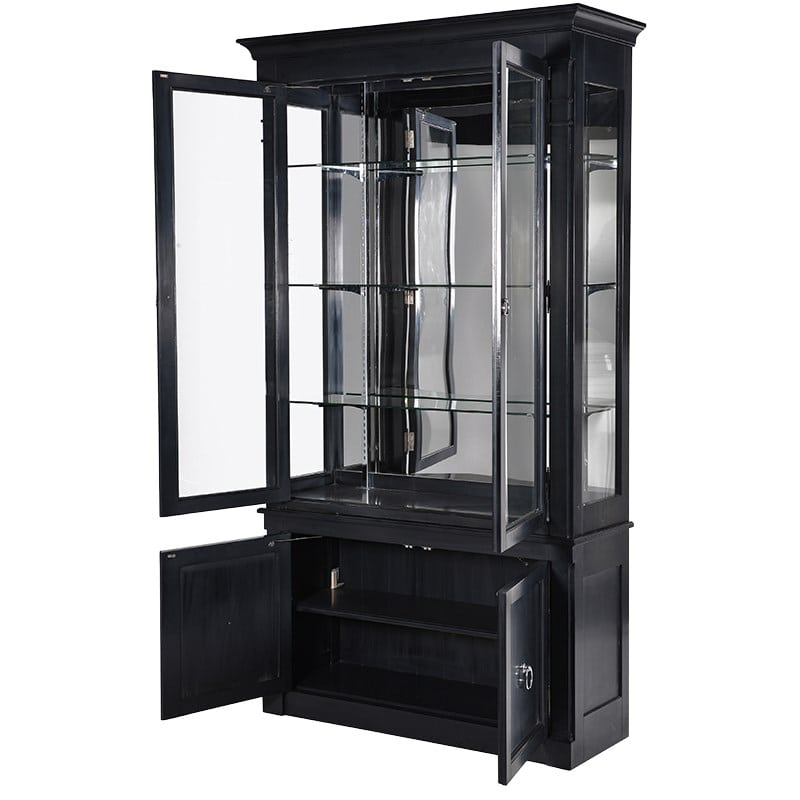 Chelsea Black 2 Door Display Cabinet Furniture La Maison