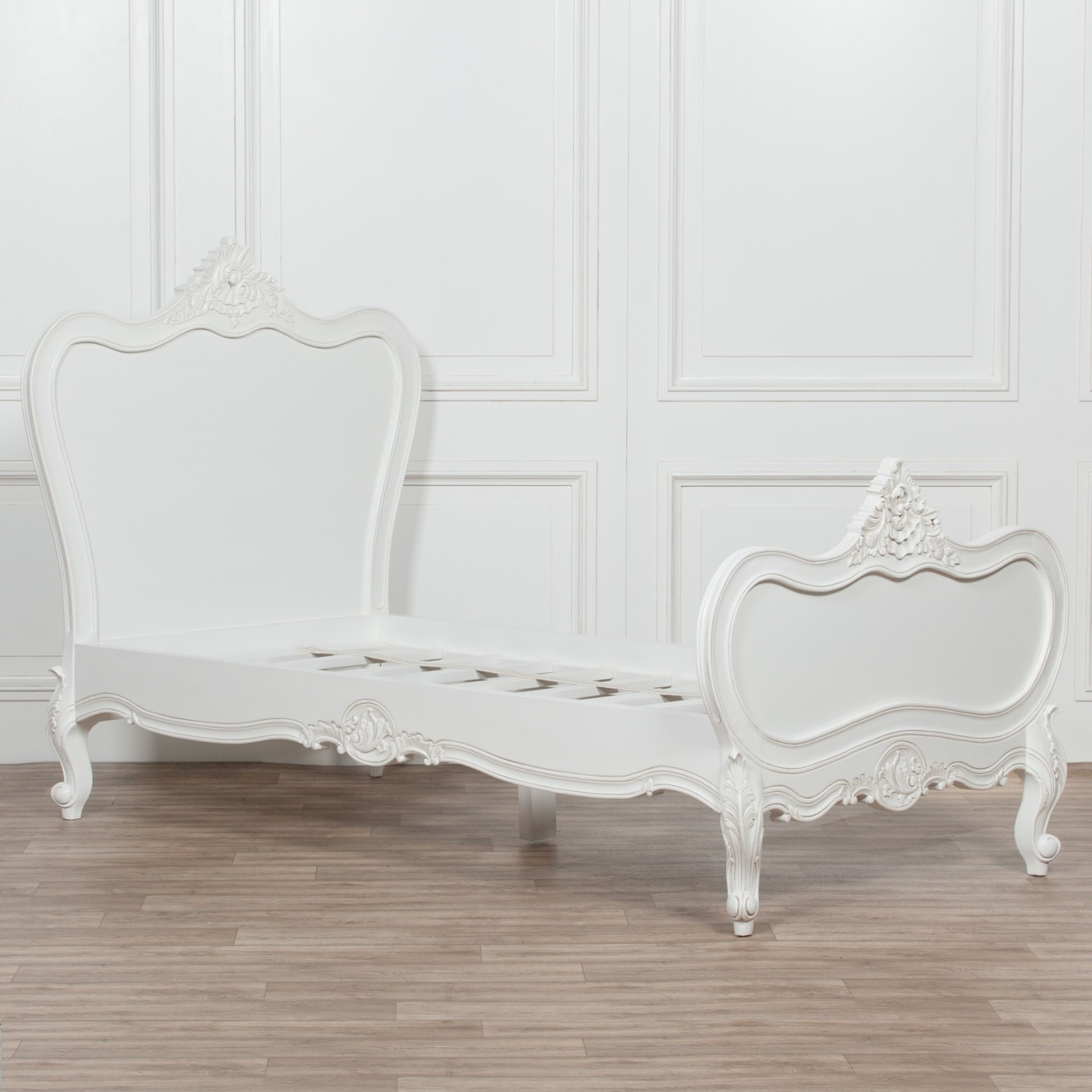 Picture of: 3ft French White Chateau Wooden Single Bed Furniture La Maison Chic Luxury Interiors