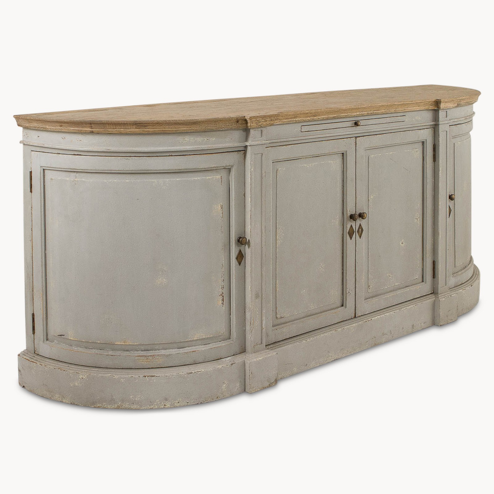 Distressed Light Grey Large Sideboard Furniture La