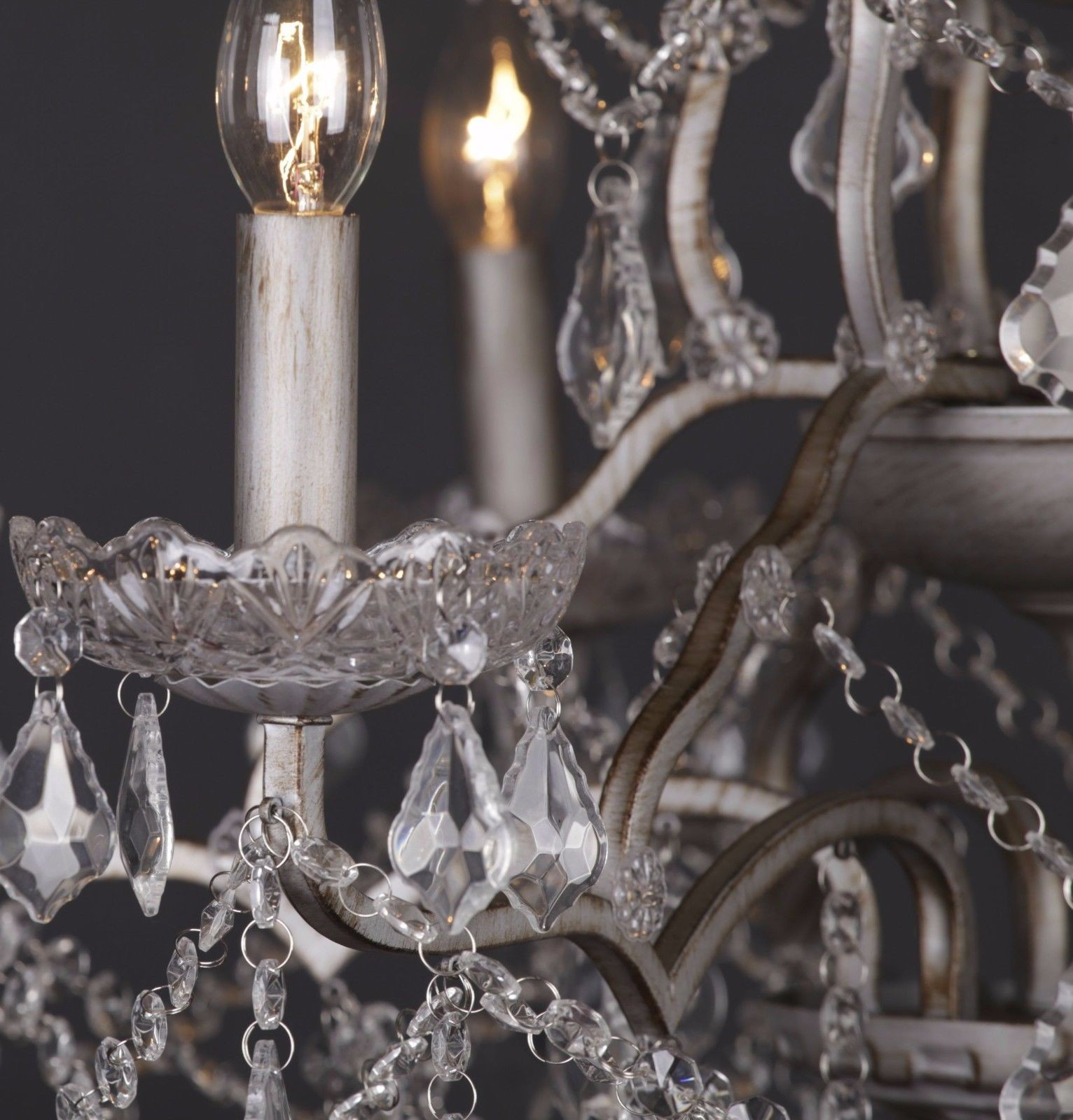 6 branch antique silver shallow cut glass chandelier furniture la glass chandelier uk aloadofball Choice Image