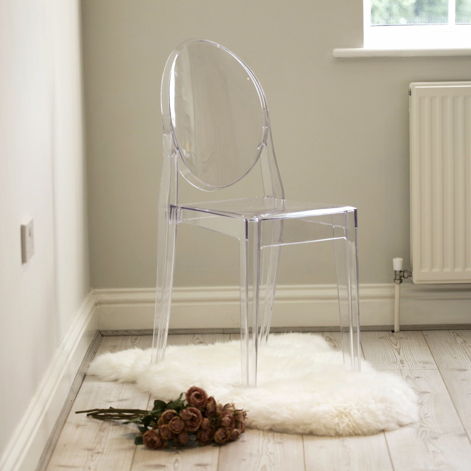 Clear Ghost Transparent Dining Chair Furniture La Maison Chic Luxury Interiors
