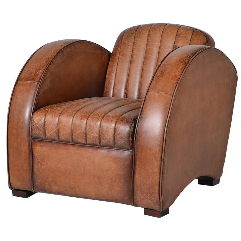 Vintage Style Torridon Tan Leather Armchair Furniture - La ...