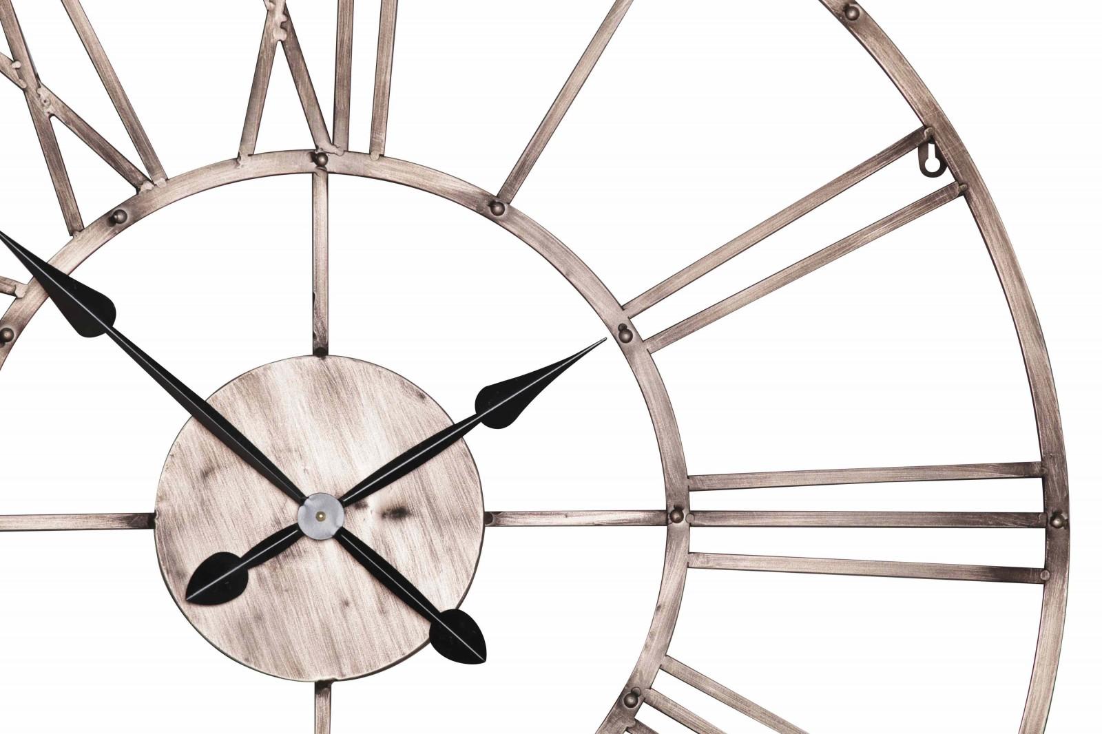 Vintage Copper Effect Metal Wall Clock Furniture La