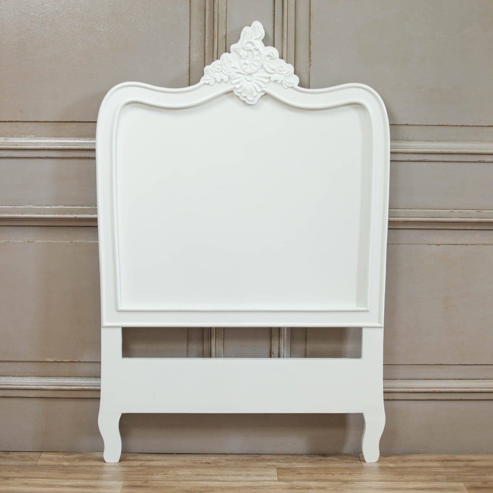 French White 3ft Single Headboard Furniture La Maison Chic Luxury Interiors