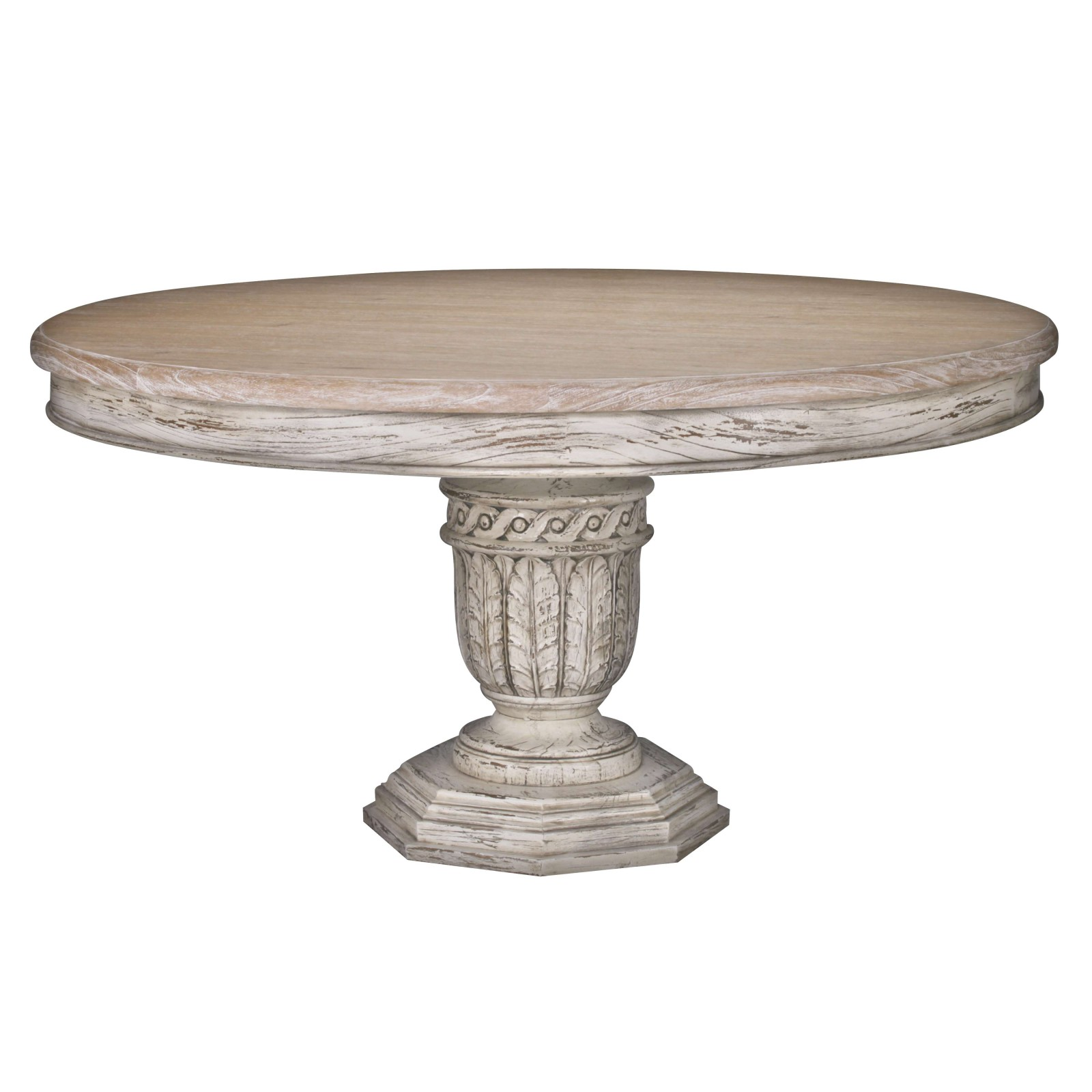 Ardennes Distressed 145cm Round Dining Table Furniture ...
