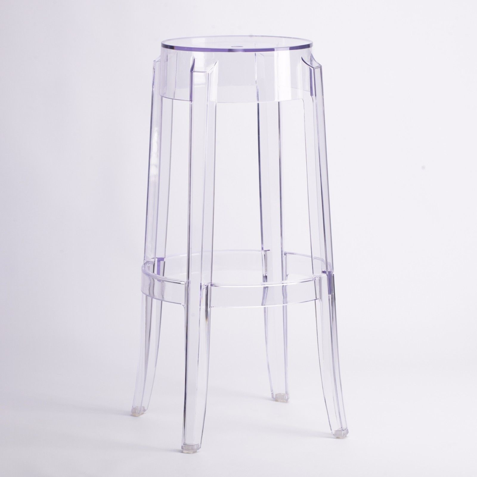 Clear Ghost Transparent Bar Stool Furniture La Maison Chic Luxury Interiors