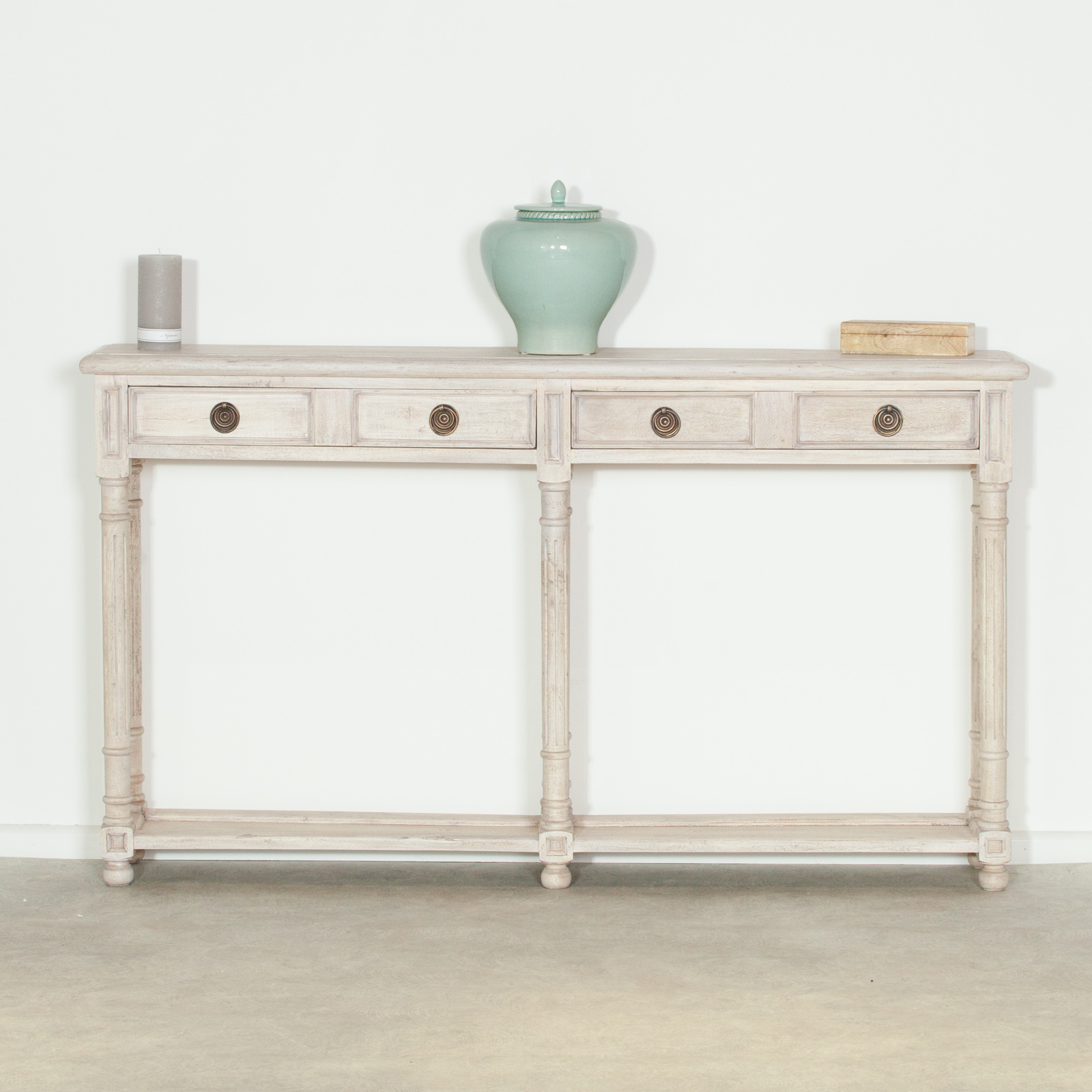 White Resin Folding Table, Acacia Slim 2 Drawer Wooden Console Table Furniture La Maison Chic Luxury Interiors