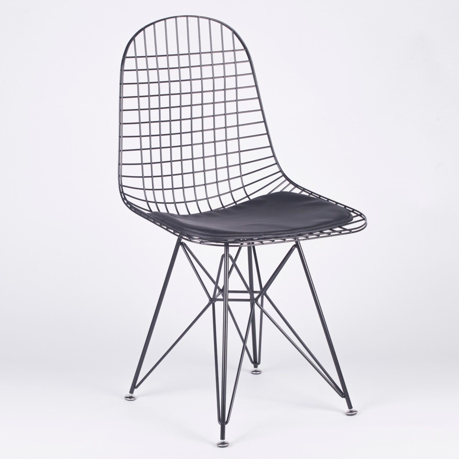 Dkr Inspired Black Mesh Eiffel Style Wire Dining Chair