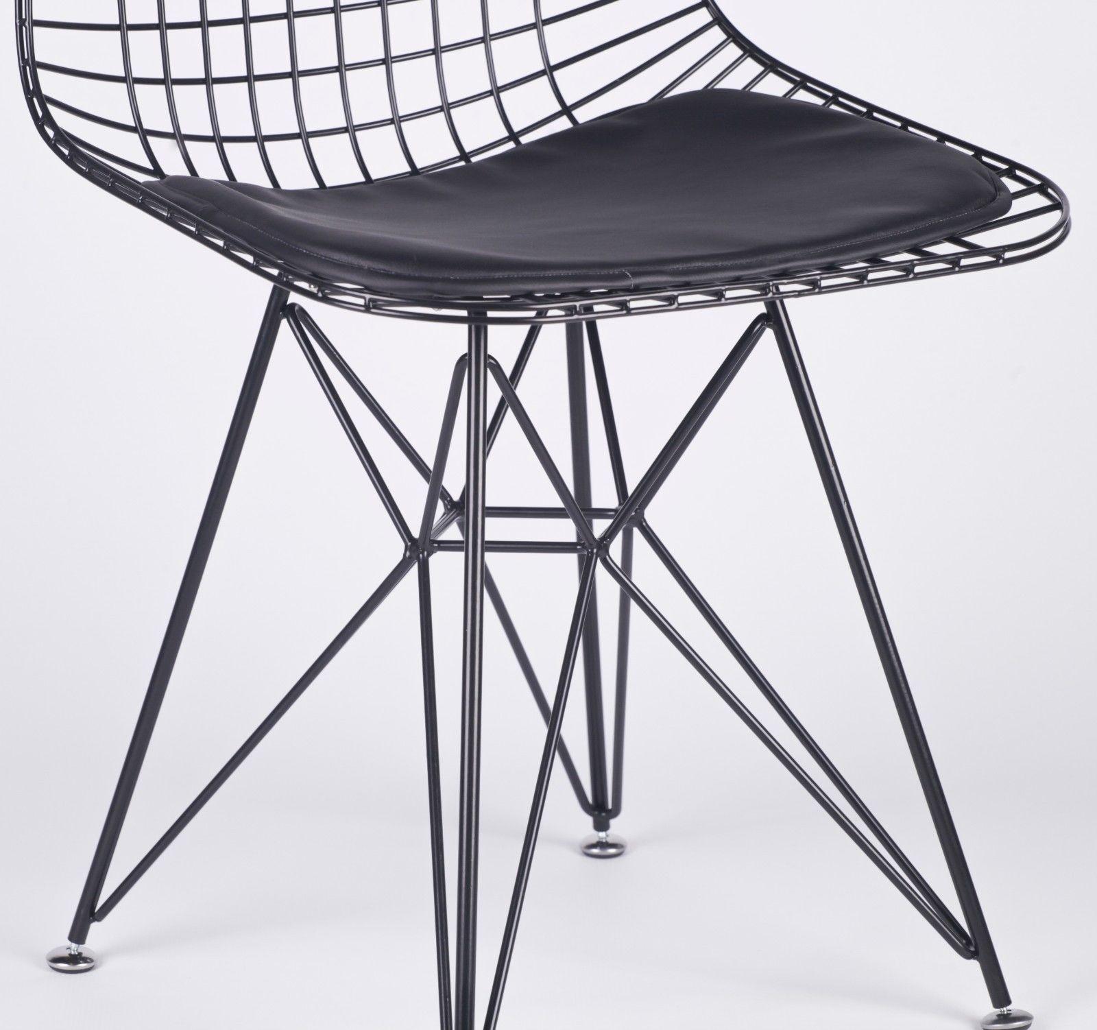 Black Mesh Eiffel Style Wire Dining Chair Furniture - La Maison Chic ...