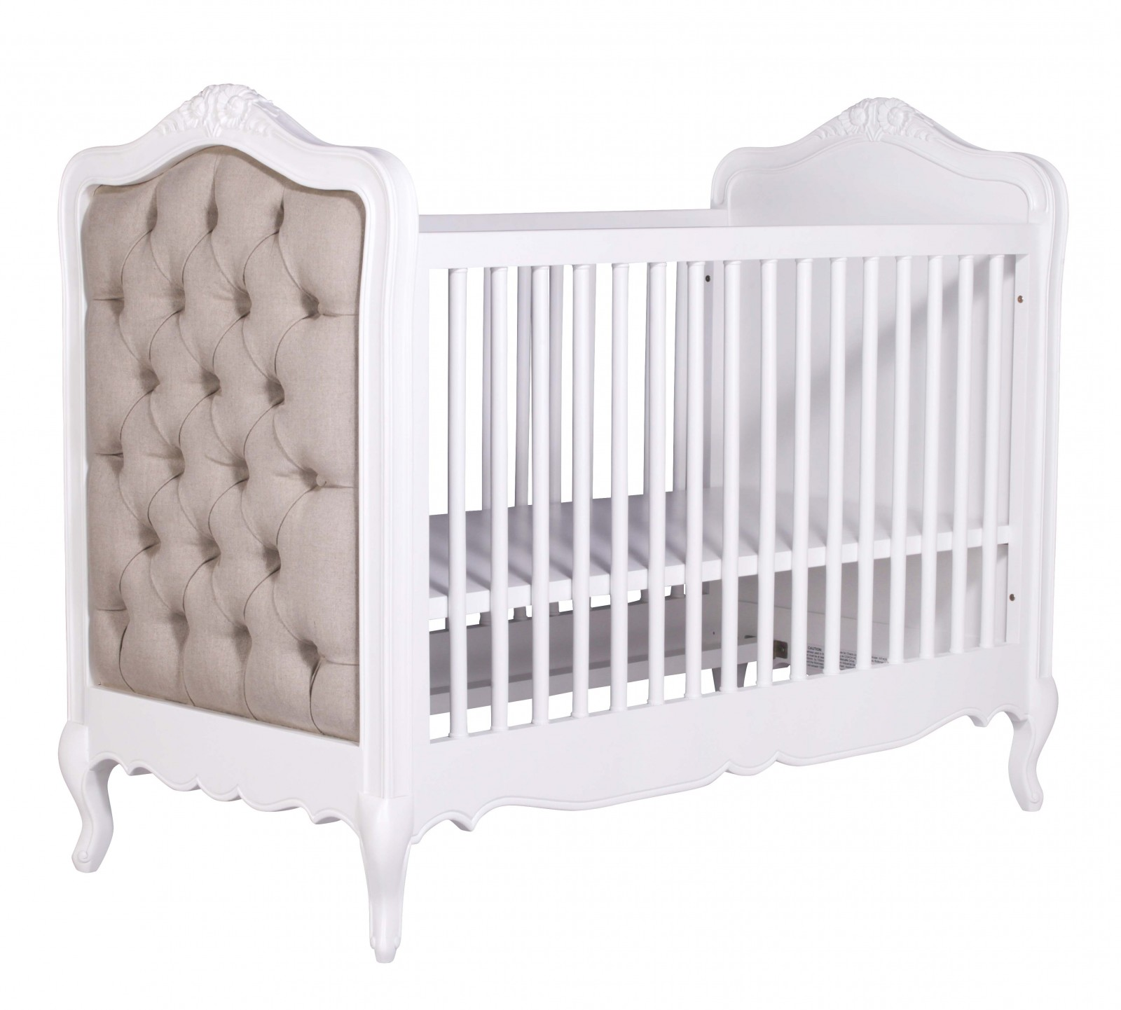 Picture of: French White Upholstered Buttoned Cot Bed Furniture La Maison Chic Luxury Interiors