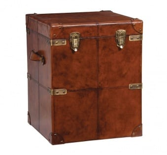 Vintage Leather Storage Trunk UK