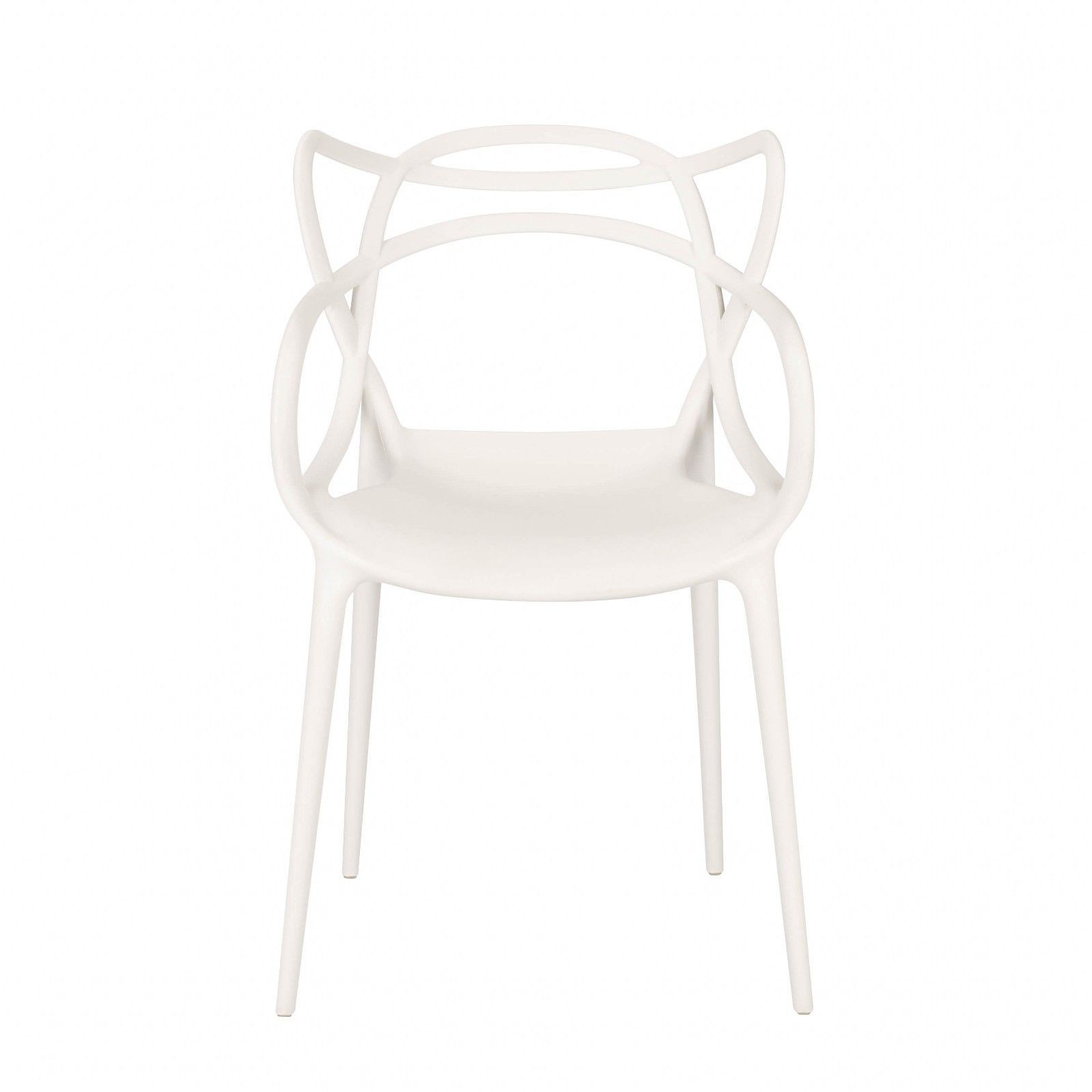 Masters Inspired Moulded White Dining Chair Furniture - La ...