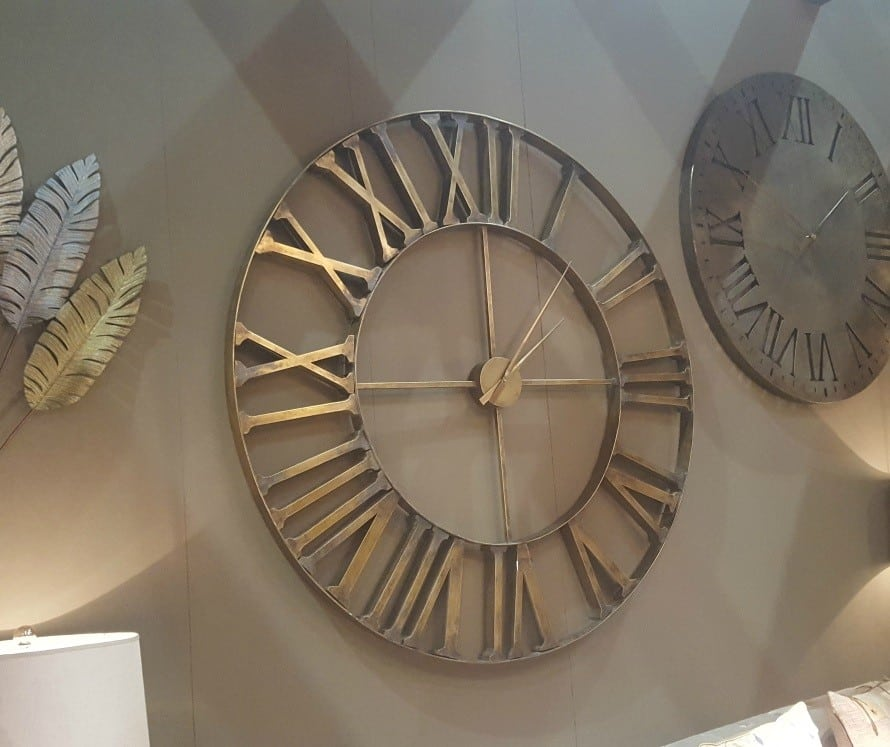 Extra Large 153cm Metal Wall Clock Furniture La Maison