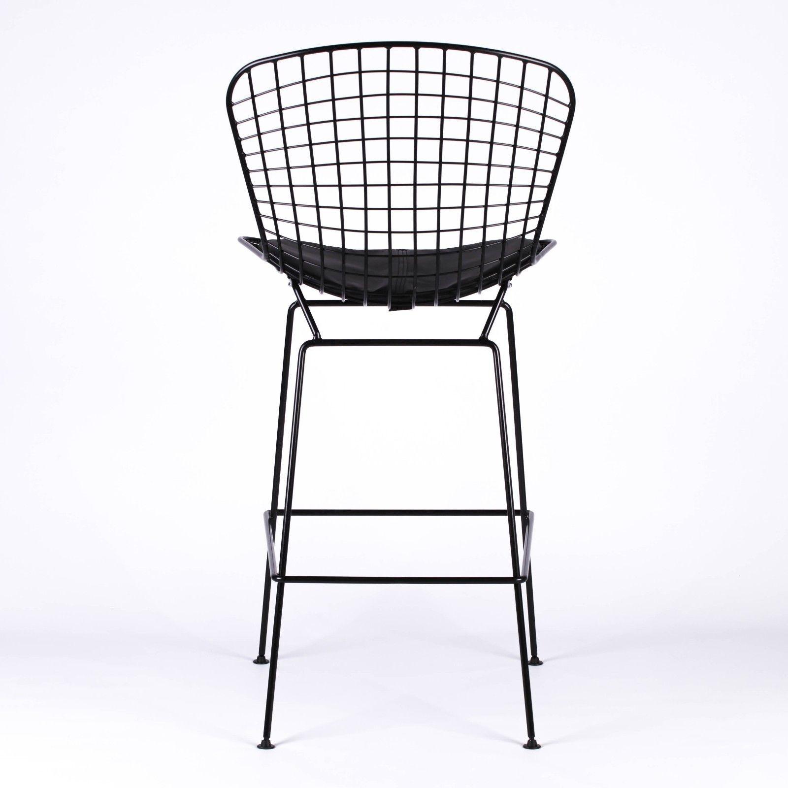 Wire Metal Mesh Black Bar Stool Furniture La Maison Chic