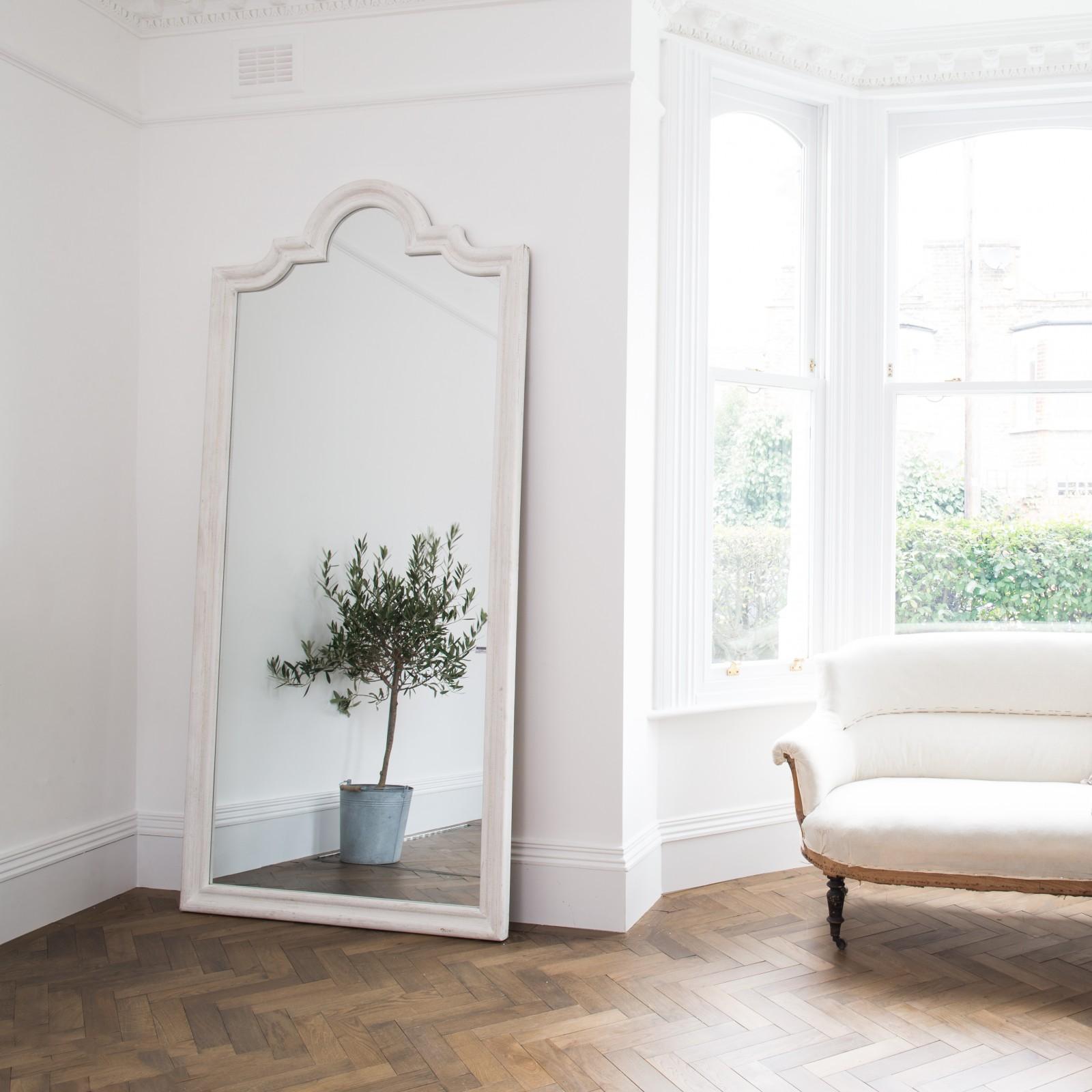 Off White Large Mirror Furniture La Maison Chic Luxury