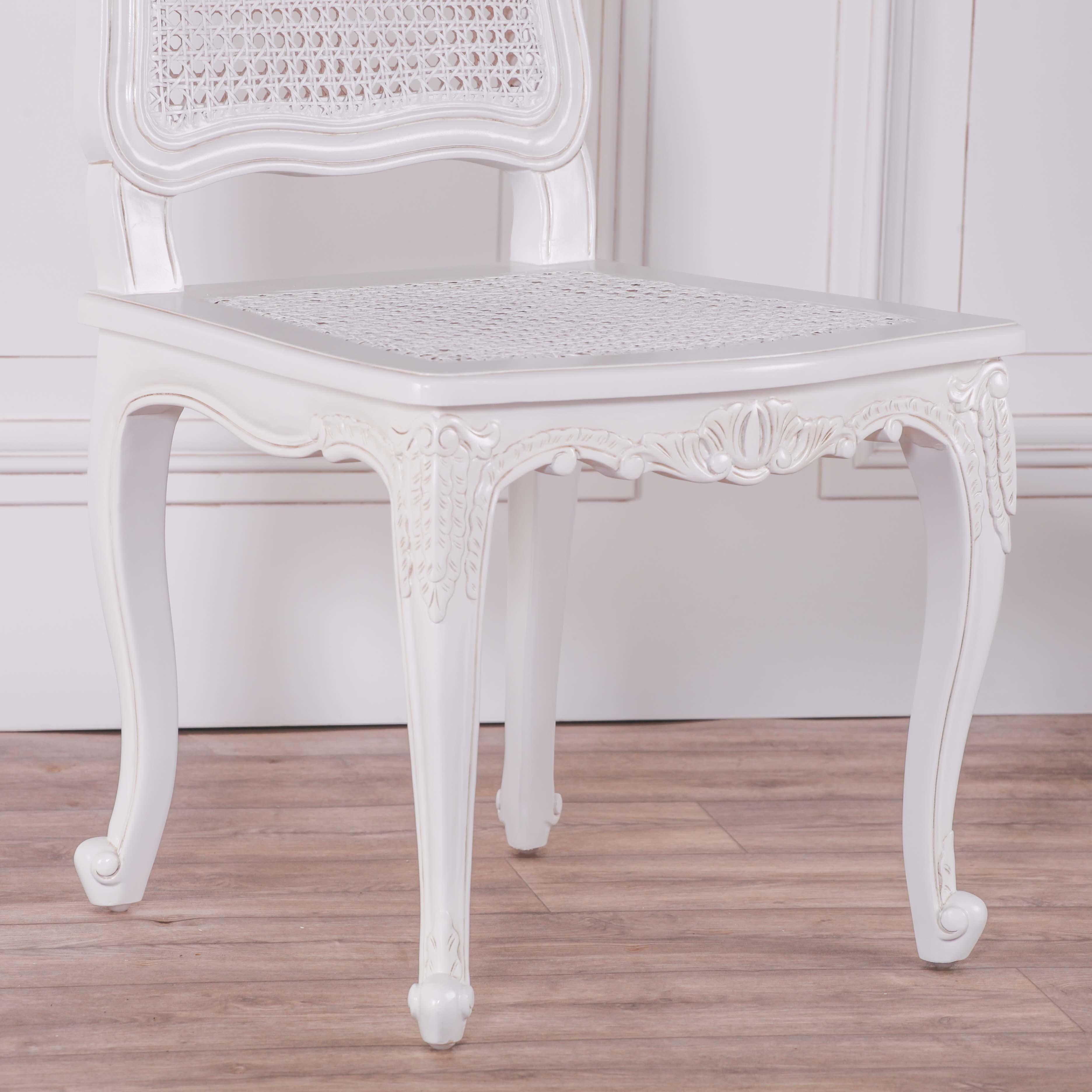 French Provencal White Rattan Chair Furniture La Maison