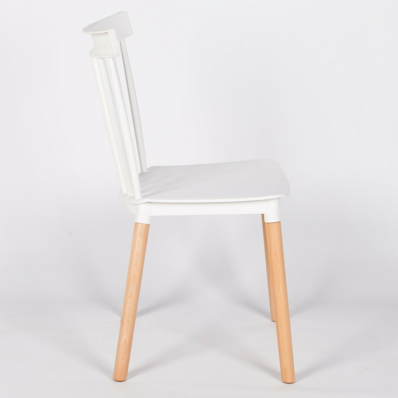 Spindle Back White Dining Chair Furniture La Maison Chic