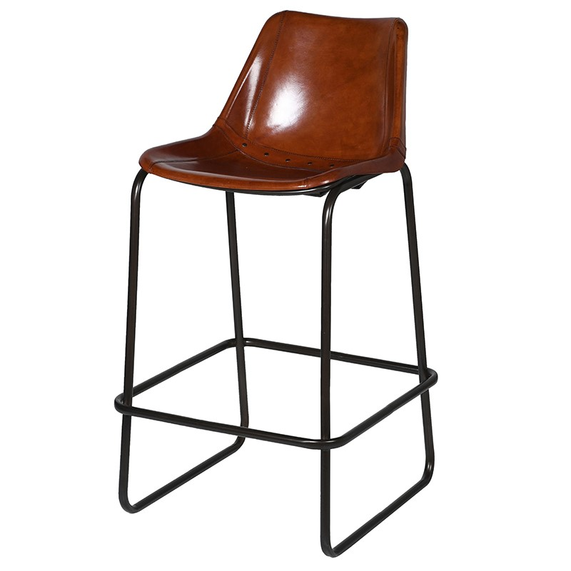 Pleasing Jacobus Tan Leather Bar Stool Gmtry Best Dining Table And Chair Ideas Images Gmtryco