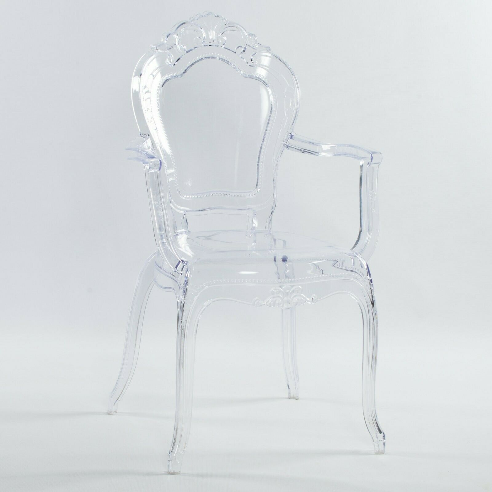 French Style Clear Ghost Transparent Armchair