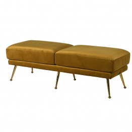 Velvet Footstool UK