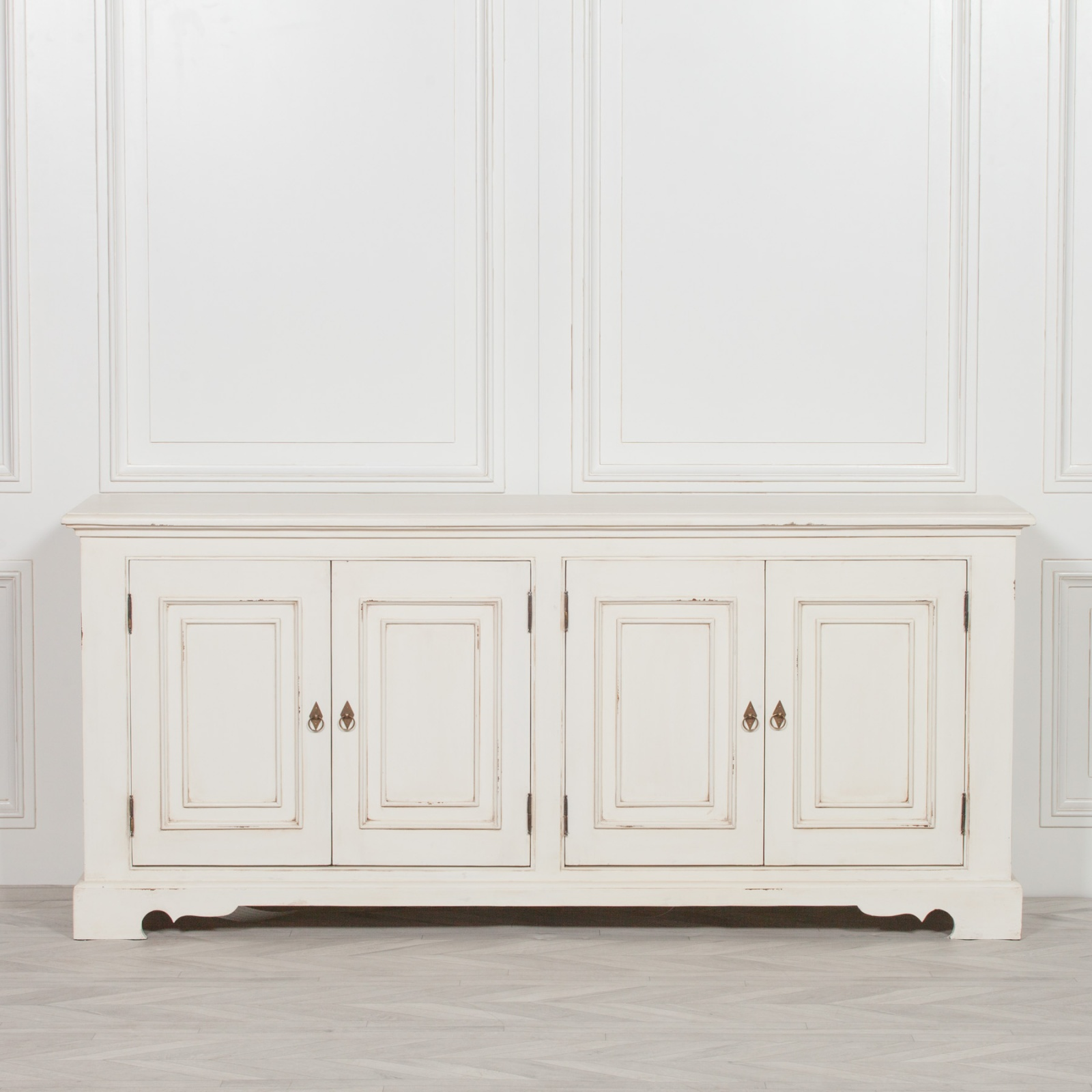 new concept bf197 a036e Adile Distressed Off White Large Sideboard