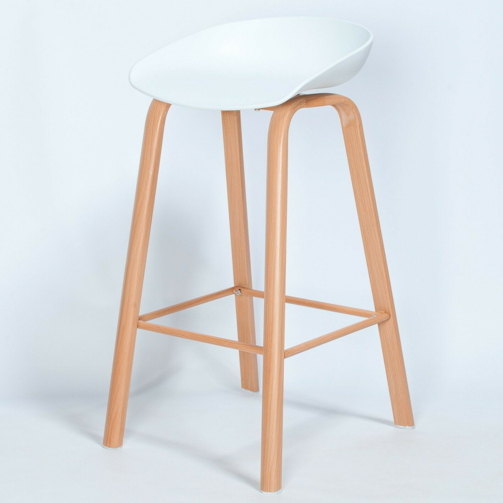 Image of: Scandi Contemporary White Bar Stool With Wooden Style Legs Furniture La Maison Chic Luxury Interiors