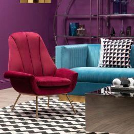 Velvet Armchair UK